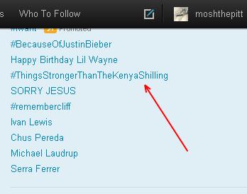 thingsstrongerthanthkenyanshilling trending on twitter